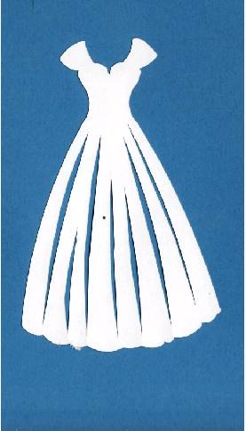 Paper Crafts - Die cut - Brides Dress - Acid Free Paper ...