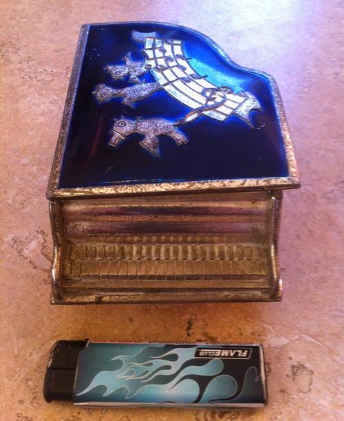 Piano Jewelry Box Vintage