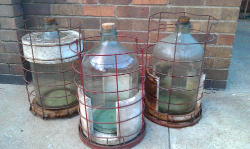 Brown Glass Demijohns For Sale