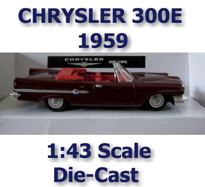 1959 Chrysler 300E 1:43 Scal Diecast