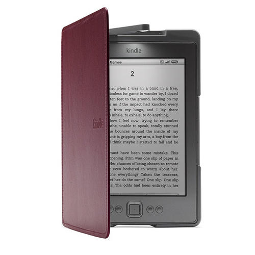 ebook readers purple leather case cover for amazon. Black Bedroom Furniture Sets. Home Design Ideas