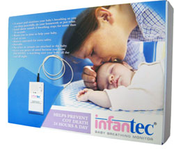 Monitors Infantec Baby Breathing Monitor Apnea Mattress