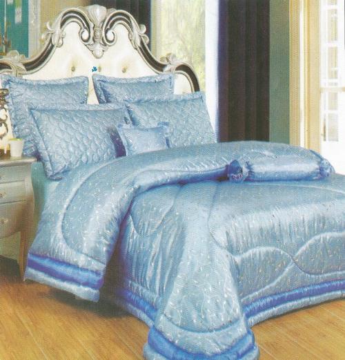 comforter set light blue 7 piece queen size comforter set. Black Bedroom Furniture Sets. Home Design Ideas