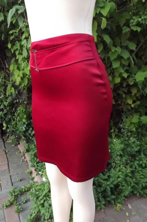 skirts formal stretch polyester satin evening knee