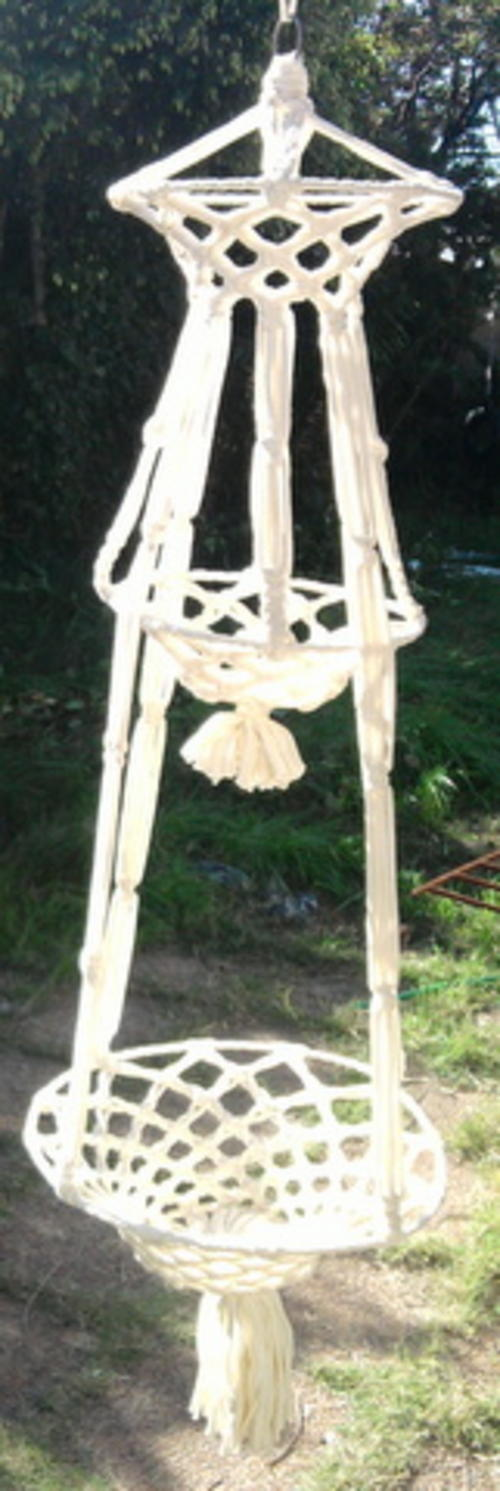 other garden outdoor living pets macrame flower pot holder was sold for r150 00 on 9 jul at