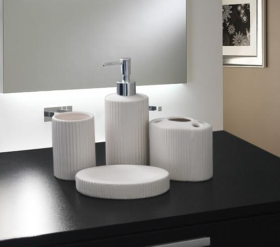 Accessory sets bathroom ceramic4pc for sale in for Bathroom accessories sets on sale