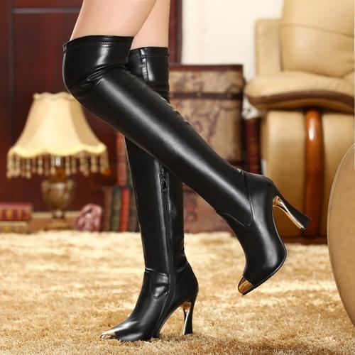 boots 532s032 tommy hilfiger knee high boots w golden. Black Bedroom Furniture Sets. Home Design Ideas