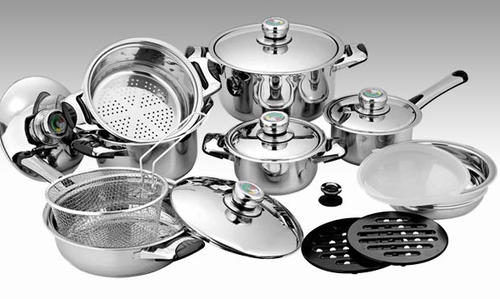 Cookware Sets - Swiss Precision 16 PC Stainless Steel 18/10 Cookware ...