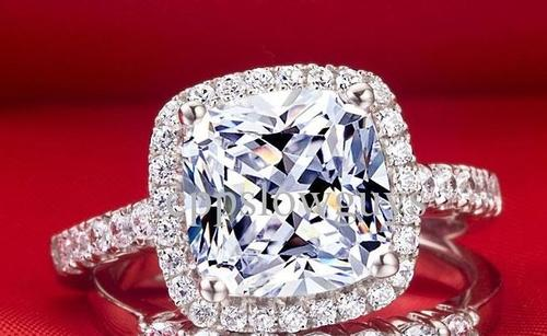 Engagement Rings Stunning 4 Carat Cr Cushion Cut Diamond Ring with