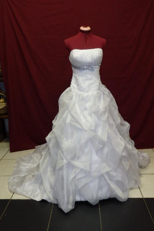 Wedding dresses an exquisite white bridal satin and for Silver wedding dresses for sale