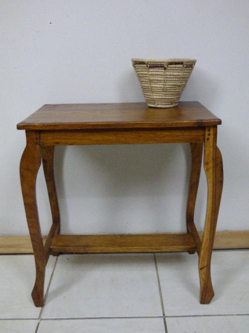 Tables a gorgeous teak side table on cabriole legs perfect between two chairs in your study