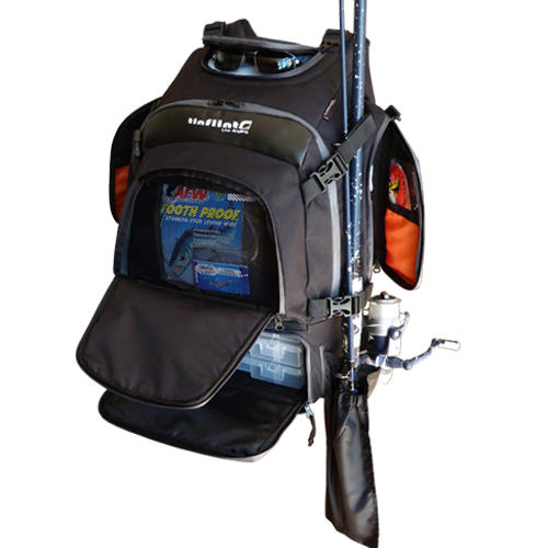 Other fishing tinflint angler fishing backpack was for Backpack fishing rod