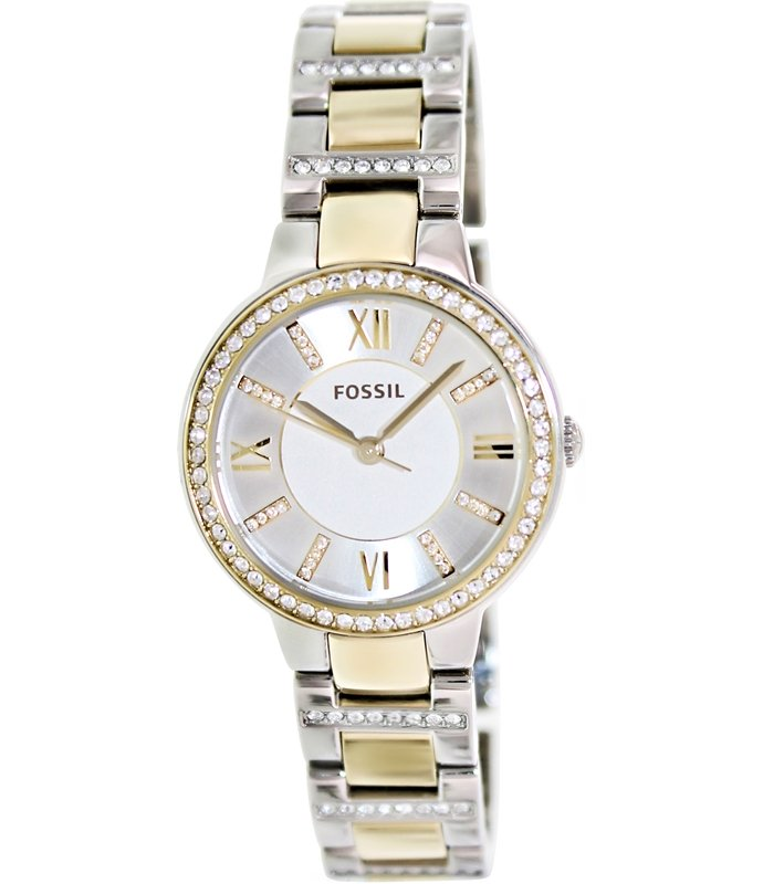s watches fossil virginia two tone stainless steel