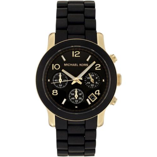 s watches michael kors black catwalk chronograph