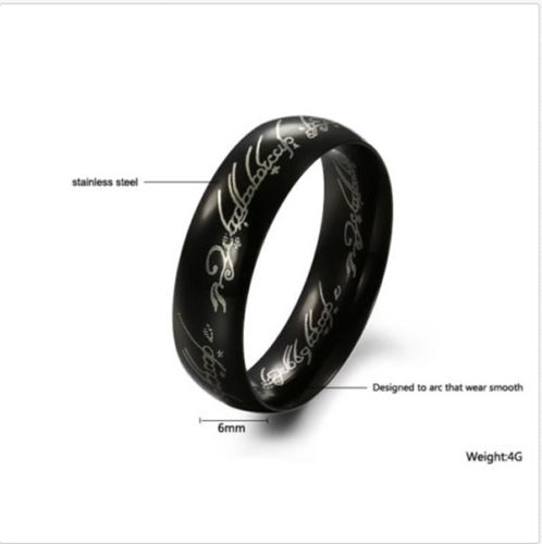 Lord of the Rings  The One Ring LORD Tungsten Stainless