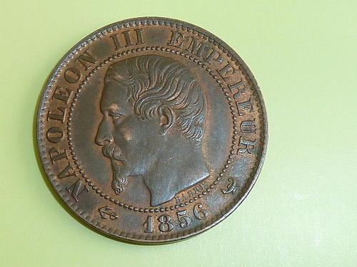 Ancient & Shipwreck - 1856 Napoleon III Empereur cinq (5) Centimes ...