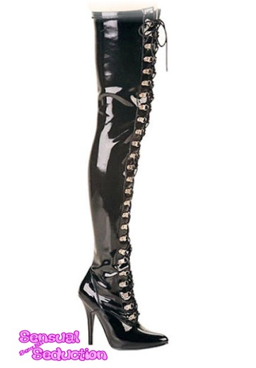 shoes new thigh high pvc boots 8 was sold for r899 00