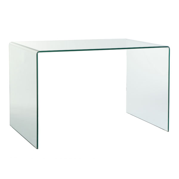 Furniture - Desk - solid glass desk from @home was sold for R1,800.00