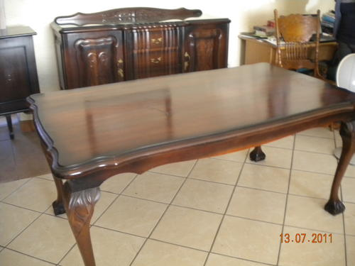 Tables stunning ball and claw imbuia 6 seater dining for Dining room tables 6 seater