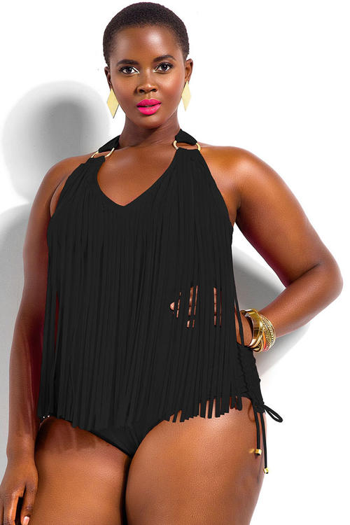 Product Description. Flirty & Fringe is whats Hot this summer This One Piece with Fringe lends a fashionable, fun look while providing added coverage.