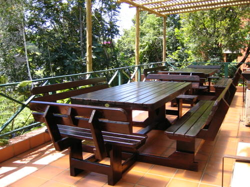 Patio sets picnic tables 10 seater pine picnic bench for 12 seater wooden outdoor table