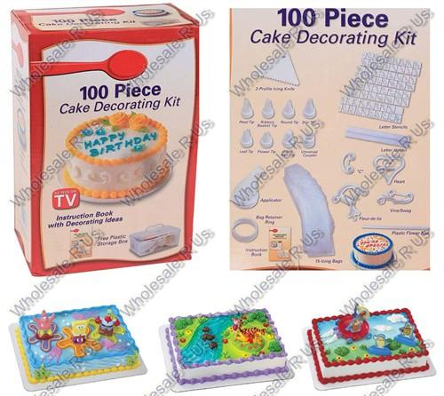 Cake Decorating Icing Kit : Cake Decorating Kit For Frosting Icing Decorating 100 Piece